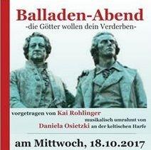 Balladenabend mit Kai Rohlinger und Daniela Osietzky am 18.10.2017