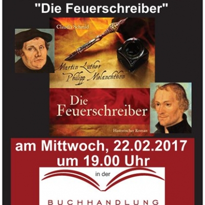 "Claudia Schmid liest aus ""Die Feuerschreiber"" am 22.02.2017"