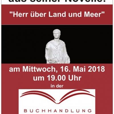 """Kai Rohlinger liest """"Herr über Land und Meer"""",16.5.2018"""