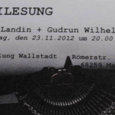 Krimilesung mit Walter Landin und Gudrun Wilhelms am 23.11.2012