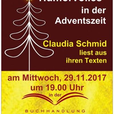 Lesung mit Claudia Schmid am 29.11.2017