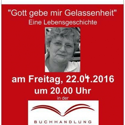 Lesung mit Maja Kelz am 22.04.2016