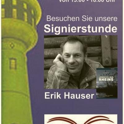 Verkaufsoffener Sonntag 16.7.2017, Signierstunde mit Erik Hauser