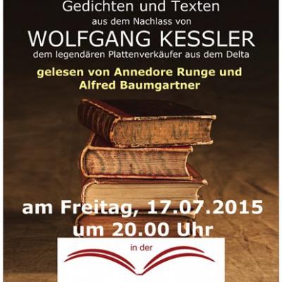 Wolfgang Kessler Buch- Release am 17.07.2015